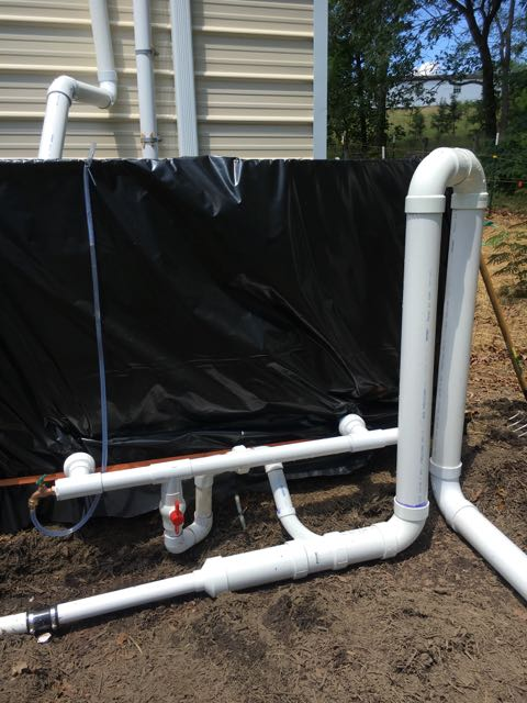 Rainwater Harvesting System Complete for the Summer.