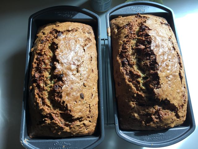 Making Homemade Zucchini Bread