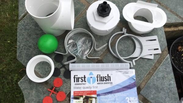 Large Rainwater Harvesting System Upgrade part 4 First Flush