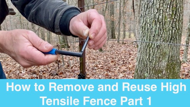 How to Remove and Reuse High Tensile Fence Part 1