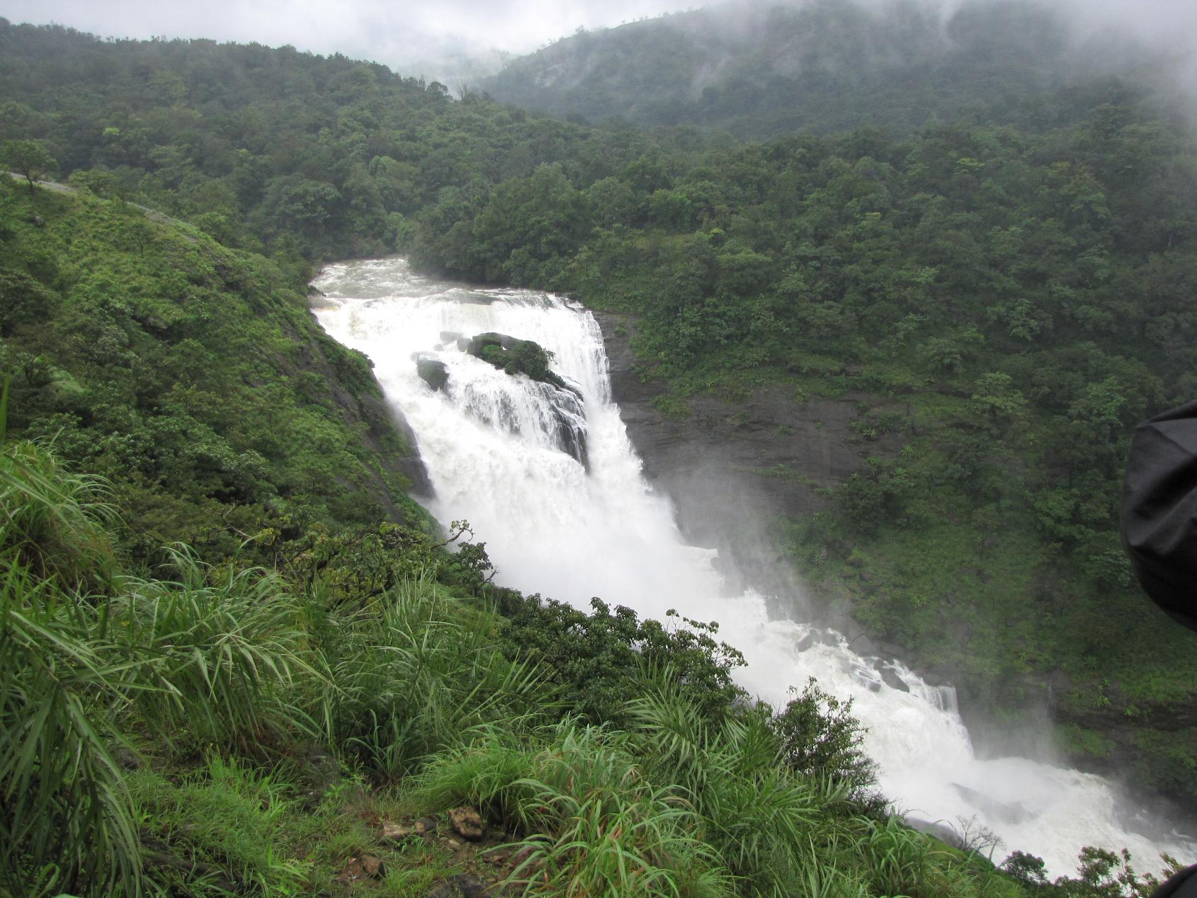 Another view of the majestic Mallahalli falls in Coorg