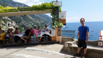 David the tourist in Positano