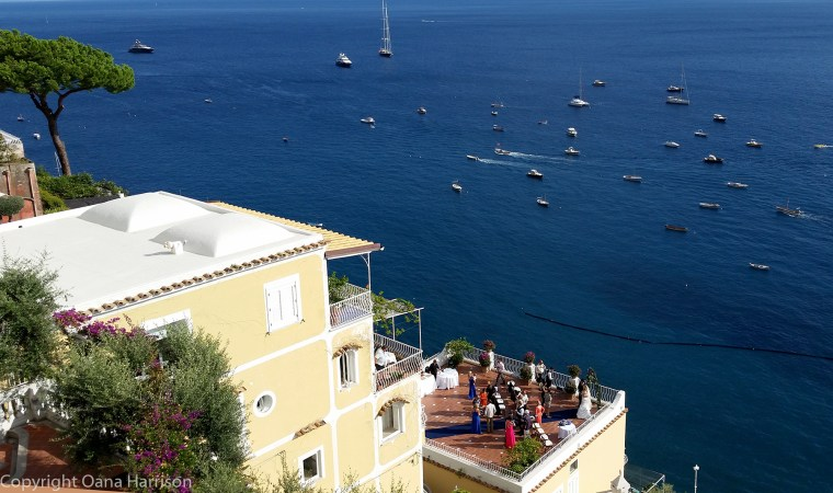 Rooftop wedding in Positano