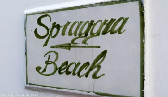 To the beach sign Positano