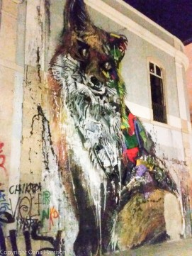 Fox graffiti in Lisbon