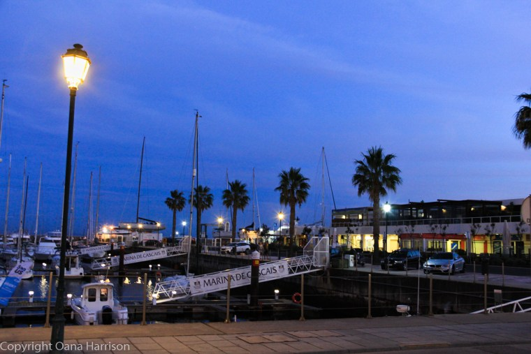 Cascais marina at sunset