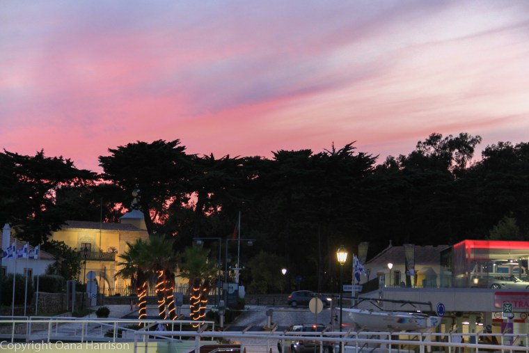 Cascais sunset at marina