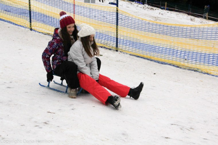 Poiana Brasov Romania Winter Sledding