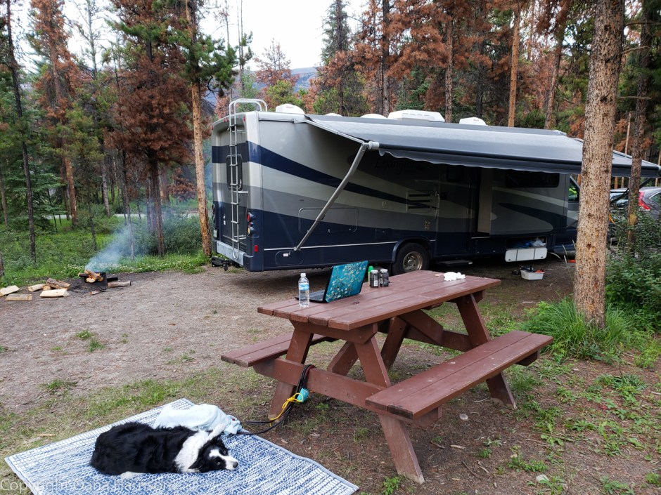 Relaxing-at-Wabasso-campground-Jasper-Canada