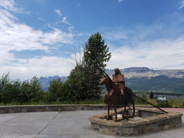 Montana-Napi-Indian-Statue