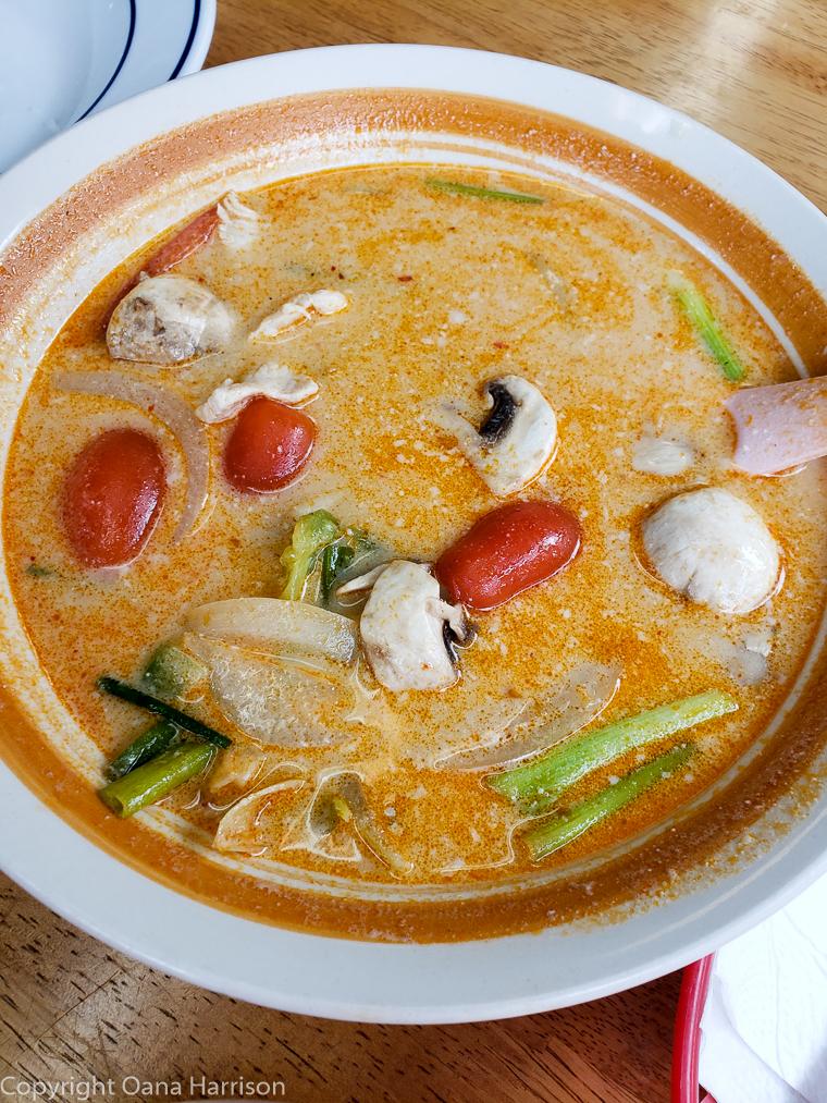 Al Thai Food Portland Oregon Tom Kha soup