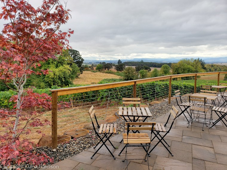 Eola Hills Legacy Winery Salem Oregon terrace