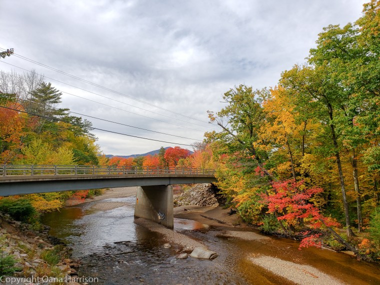 Fall colors in New Hampshire White Mountains