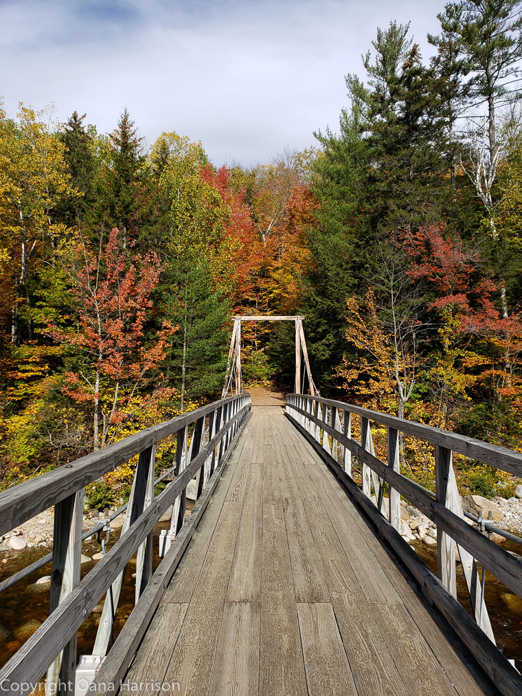 Bridge in the fall in New Hampshire