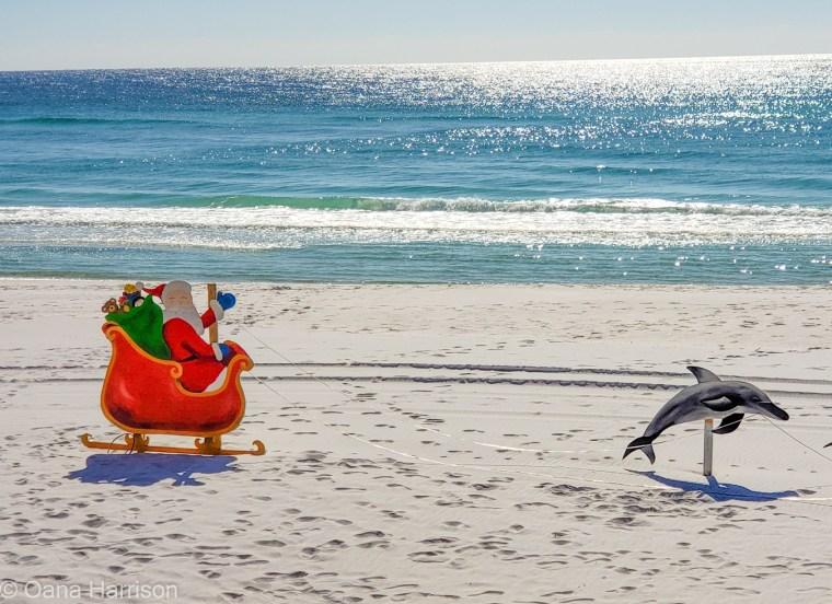 Santa on the beach, Destin, Florida
