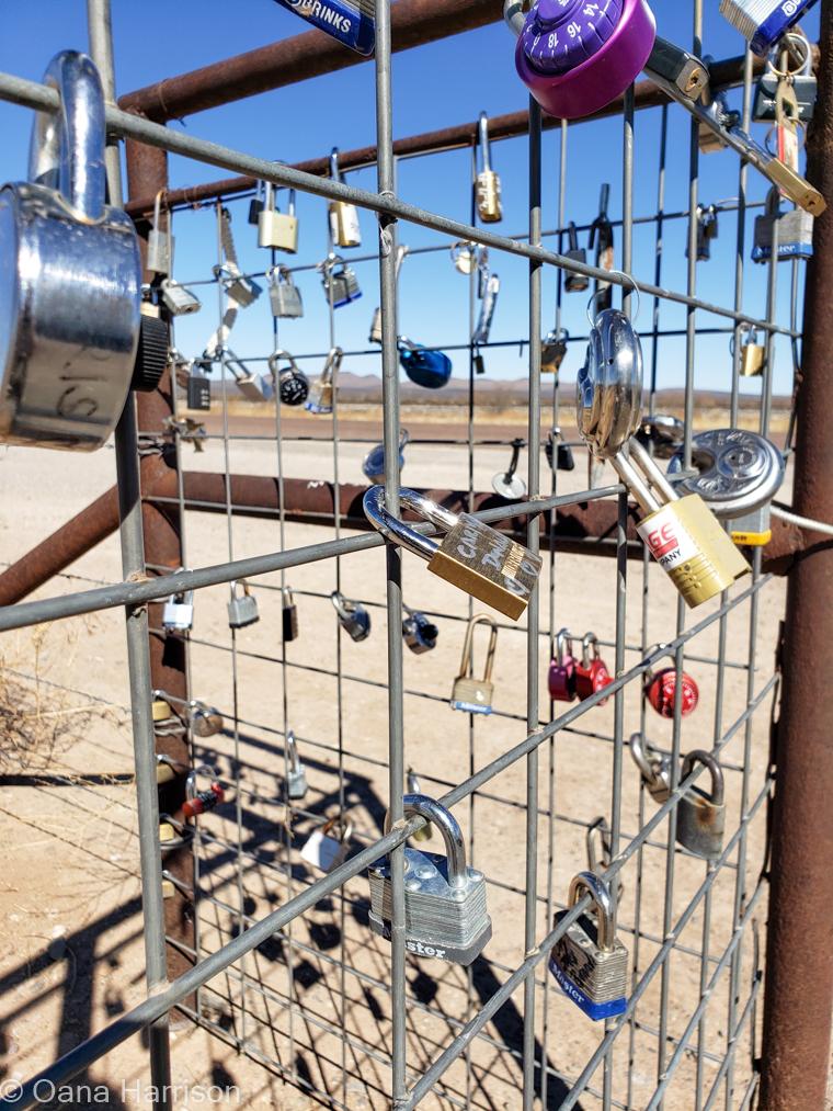 Locks on fence Alpine Texas
