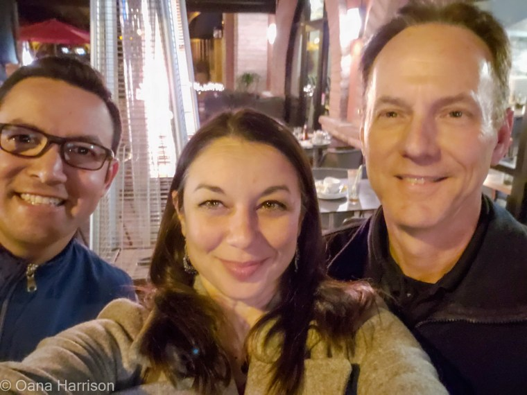 Valdir, Oana and David at Seis Kitchen, Mexican Restaurant, Tucson, Arizona