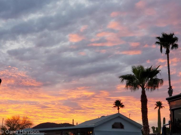 Western Way RV Park Tucson Arizona Sunset