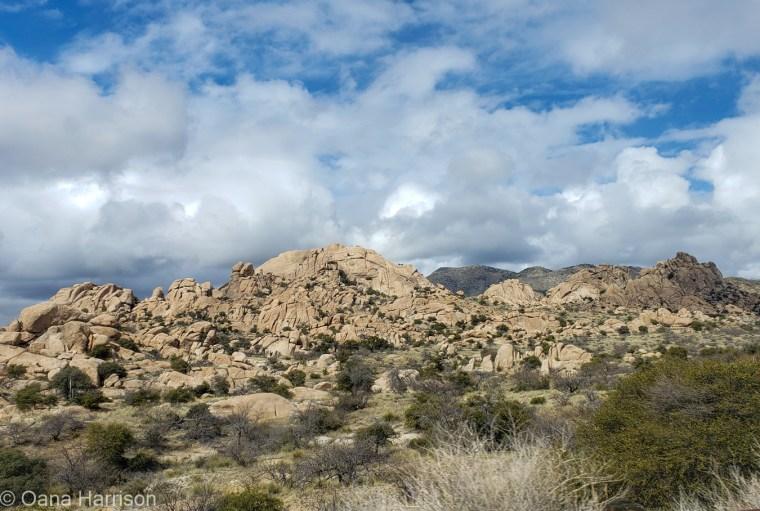 Boulders and clouds, Tucson AZ