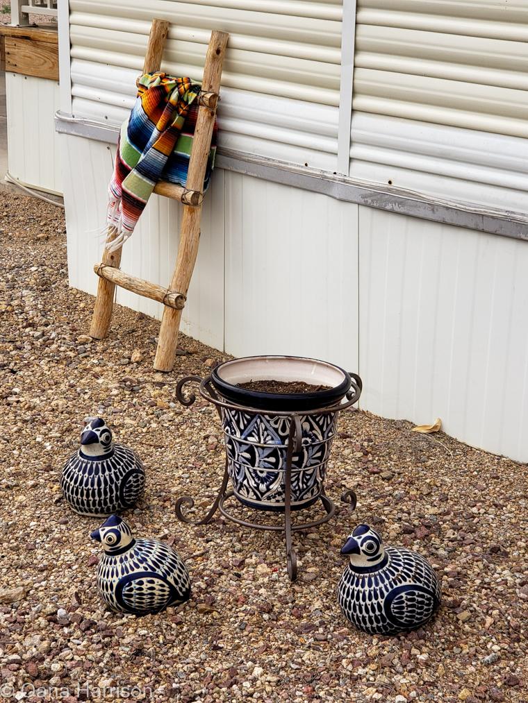 Western Way RV Park Tucson Arizona quail ceramics