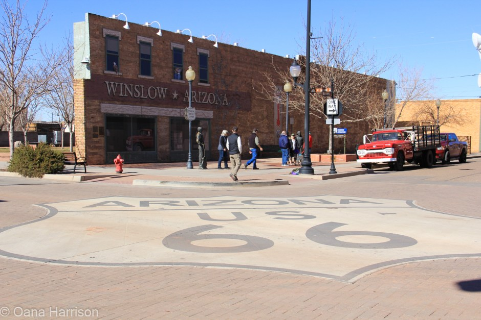 Standing on the corner of Winslow Arizona