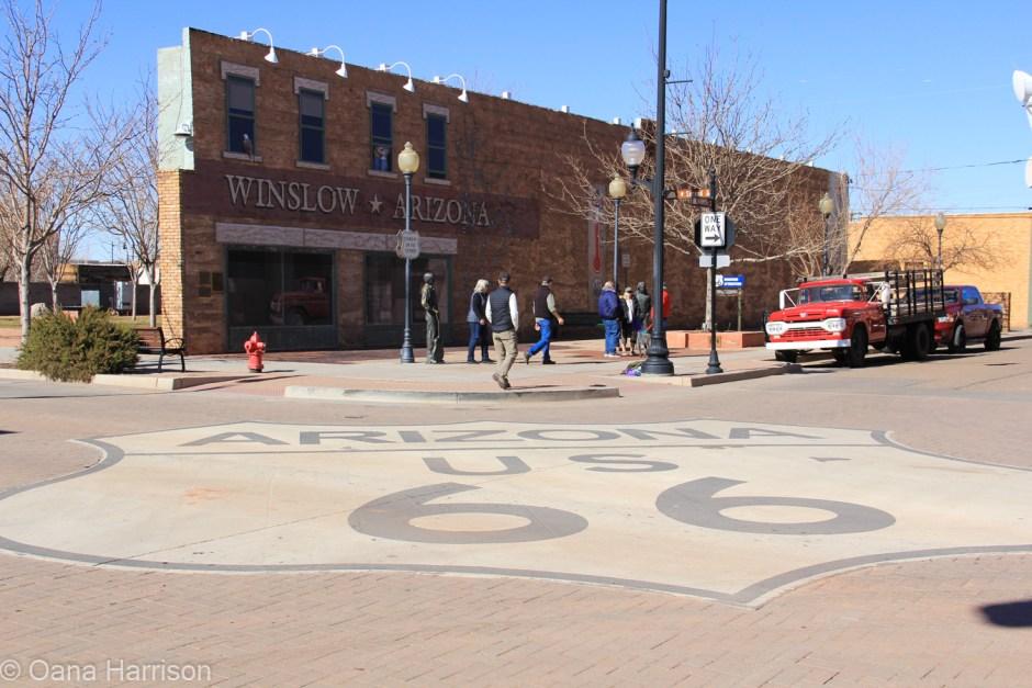 Standing on the corner of Winslow Arizona