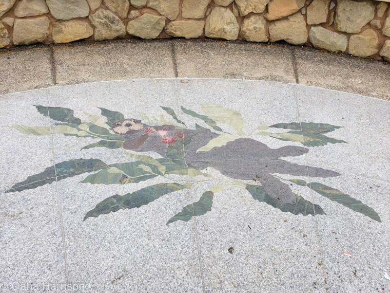 Santa Barbara, California, otter mosaic