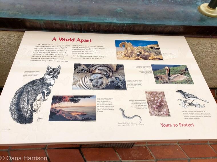 Santa Barbara, California, info panel about local fauna