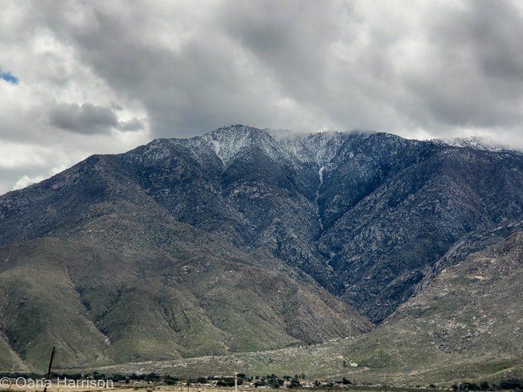 Sky Valley Desert Hot Springs CA, snowy mountains