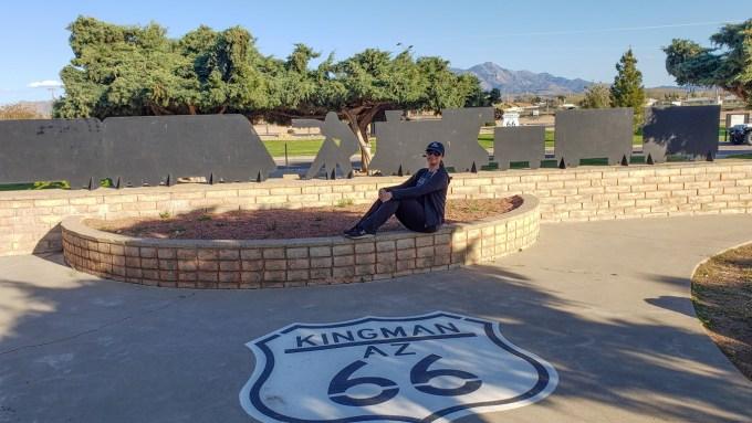 Kingman Arizona, Oana and Route 66 sign