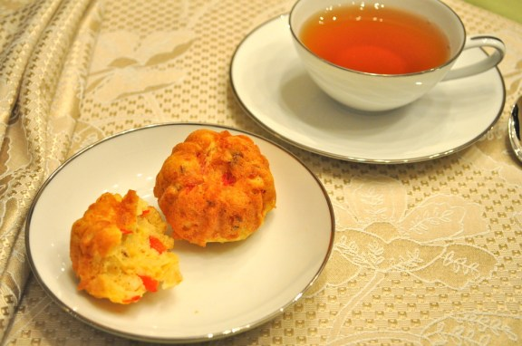 Manchego & Roasted Red Pepper Tea Cakes