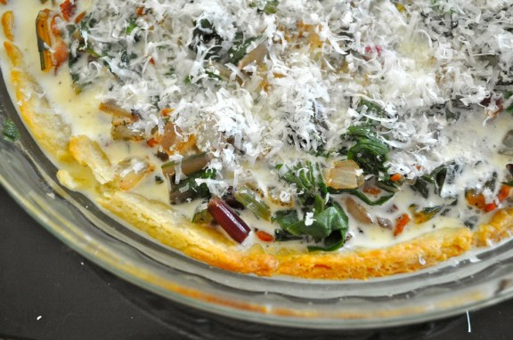 Rainbow Chard and Bacon Quiche