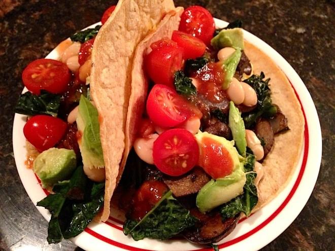Vegetarian Kale Tacos
