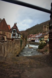 The stream that runs through the town was used to power water mills, as well as for washing and cleaning
