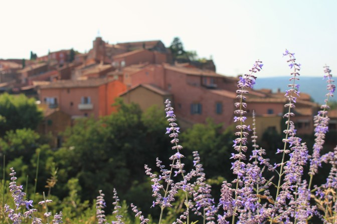 The red-ochre town of Roussillon