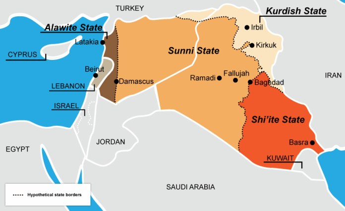 Syria Partition GreatGameIndia ISIS Oil Pipelines Russia US Turkey
