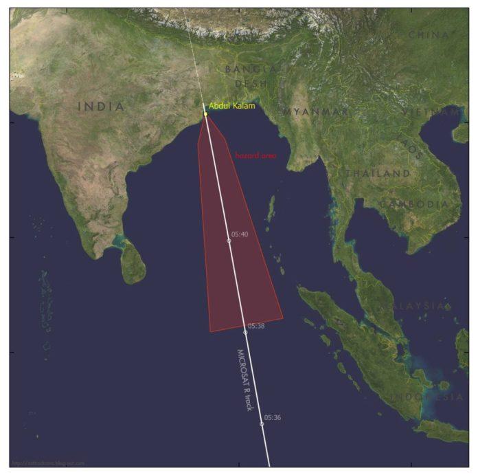 "Maritime Area Warning for ""Hazardous operations"" during Mission Shakti"