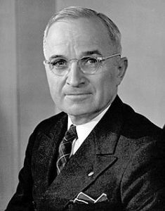Harry S. Truman, the 33rd president of the United States