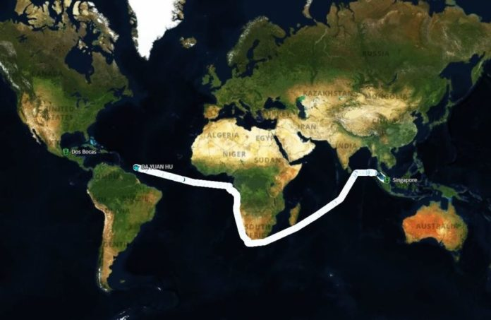 12,000 mile journey of Da Yuan Hu, Chinese shipping company blacklisted by US
