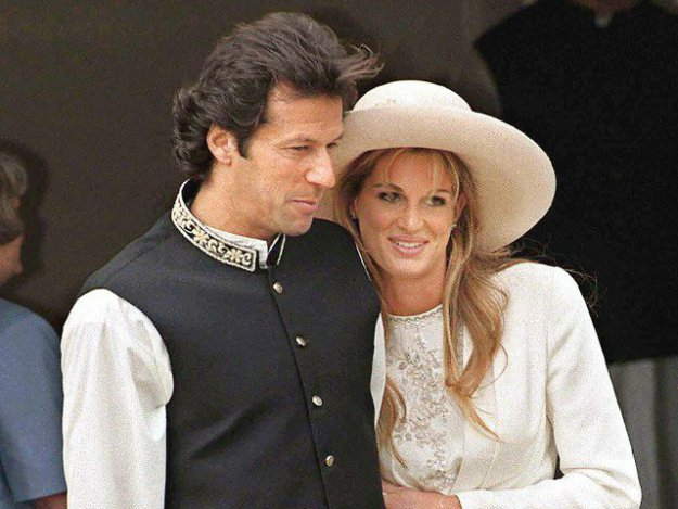 Imran Khan with Jemima Goldsmith