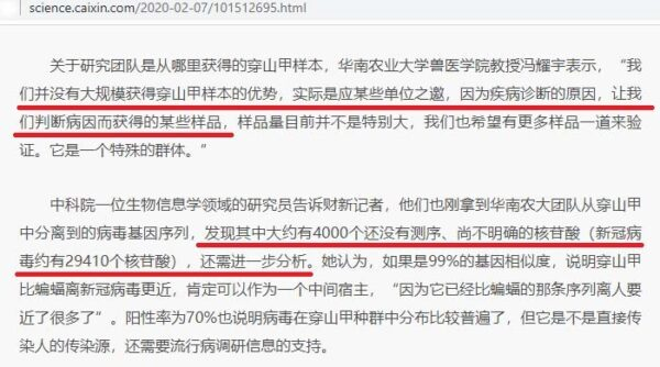 Caixin News Report Screenshot