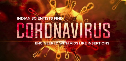 Indian Scientists Discover Coronavirus Engineered With AIDS Like Insertions