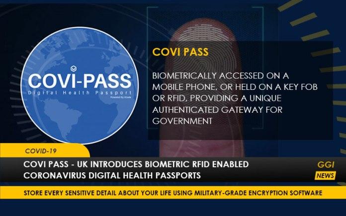 COVI PASS - UK Introduces Biometric RFID Enabled Coronavirus Digital Health Passports