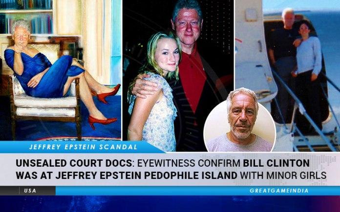 Eyewitness Bill Clinton Epstein Island
