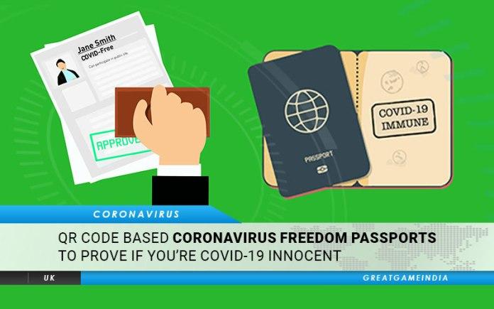QR Code Based Coronavirus Freedom Passports To Prove If You're COVID-19 Innocent