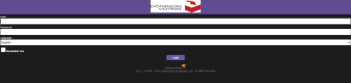 Screenshot SolarWinds Hacked Orion Platform Used In Dominion Voting Systems
