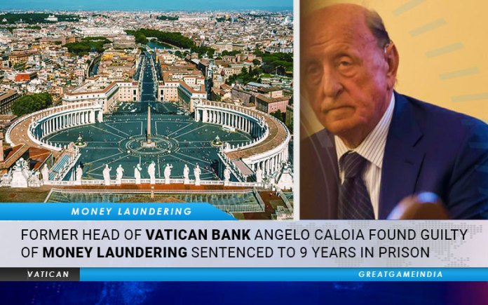 Former Head Of Vatican Bank Angelo Caloia Found Guilty of Money Laundering. Sentenced To 9 Years In Prison