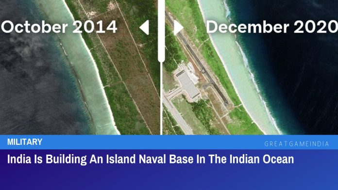 Satellite Images Show India Building An Island Naval Base In The Indian Ocean