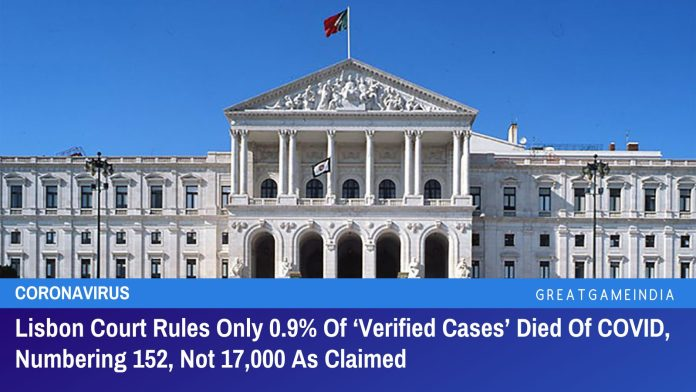 Lisbon Court Rules Only 0.9% Of 'Verified Cases' Died Of COVID, Numbering 152, Not 17,000 As Claimed