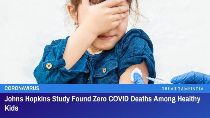 Johns Hopkins Study Found Zero COVID Deaths Among Healthy Kids